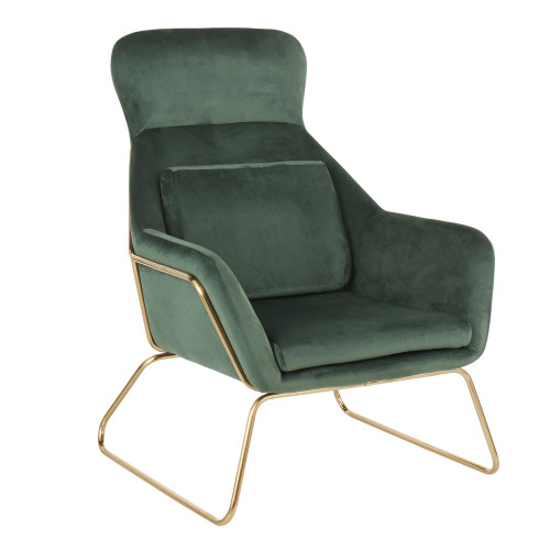 LumiSource   Penelope Lounge Chair (Gold/Green)