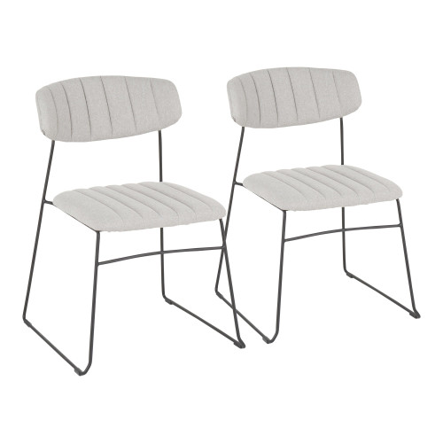 LumiSource | Thomas Chair - Set of 2 (Black/Grey)