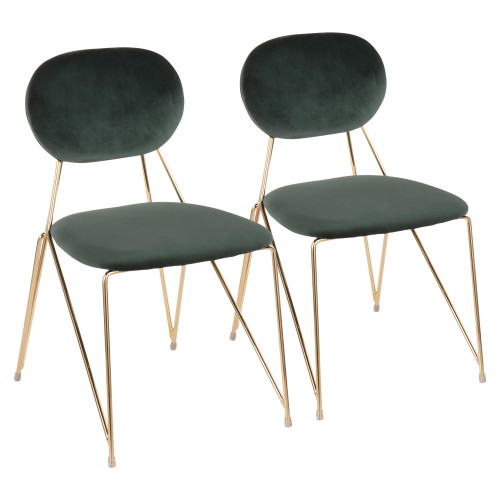 LumiSource   Gwen Contemporary-Glam Chair - Set of 2