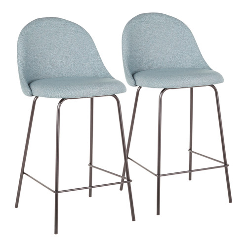 LumiSource | Lana Contemporary Counter Stool (Set of 2)