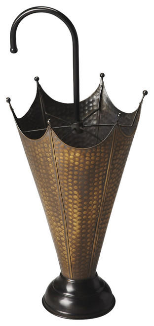 Butler Specialty Furniture | Poppins Antique Brass Umbrella Stand