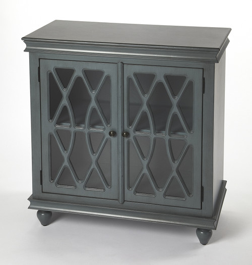 Butler Specialty Furniture | Lansing Twilight Blue 2 Door Accent Cabinet