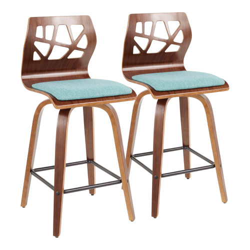 LumiSource | Folia Counter Stool - Set of 2