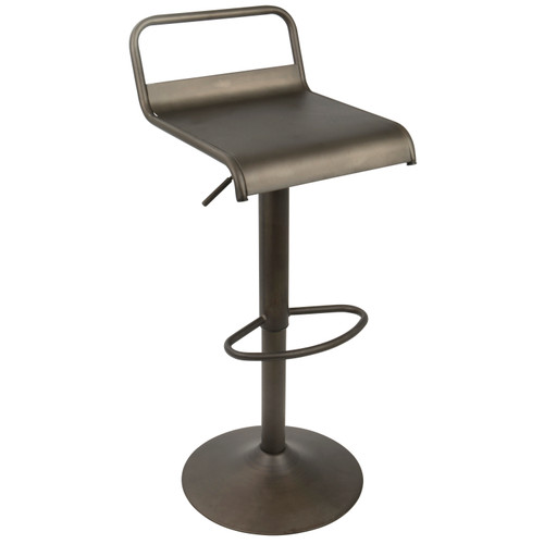 LumiSource | Emery Industrial Adjustable Barstool with Swivel