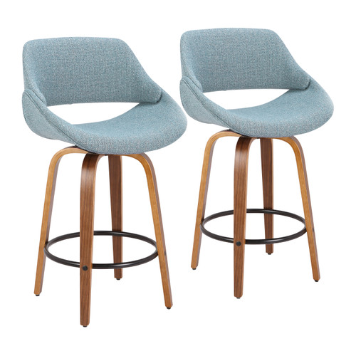 LumiSource | Fabrico Modern Counter Stool - Set of 2