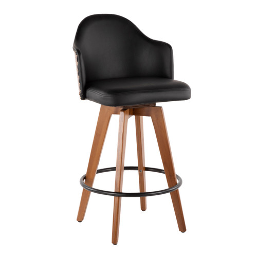 LumiSource | Ahoy Mid-Century Swivel Counter Stool