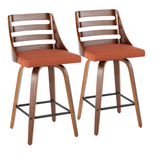 LumiSource | Trevi Modern Counter Stool - Set of 2