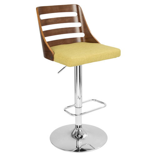 LumiSource | Trevi Modern Adjustable Barstool with Swivel