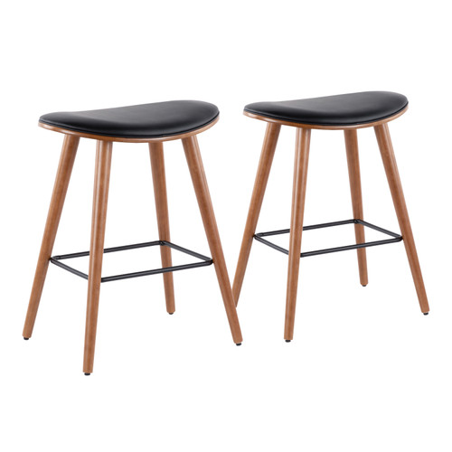 LumiSource | Saddle Counter Stool - Set of 2