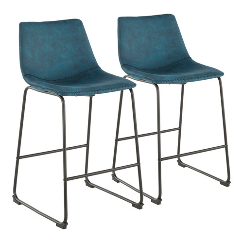 LumiSource | Duke Contemporary Counter Stool - Set of 2