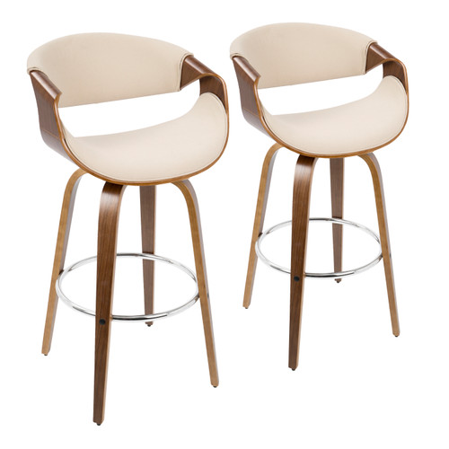 "LumiSource | Curvini 30"" Barstool - Set of 2"