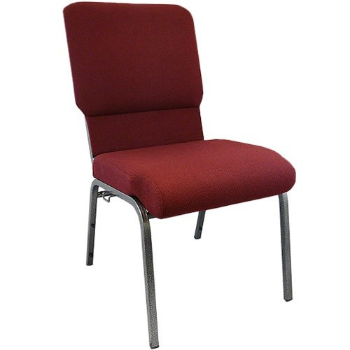 Flash Furniture | Advantage Maroon Church Chair with Book Rack 18.5 in. Wide