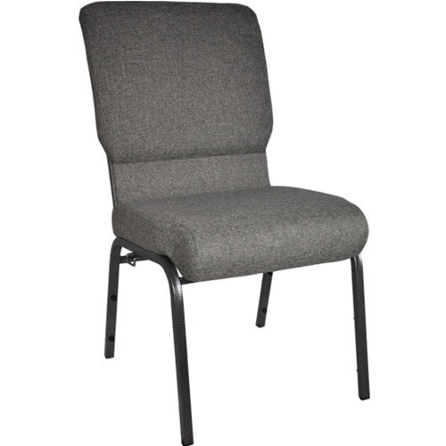 Flash Furniture | Advantage Charcoal Gray Church Chair with Book Rack 18.5 in. Wide