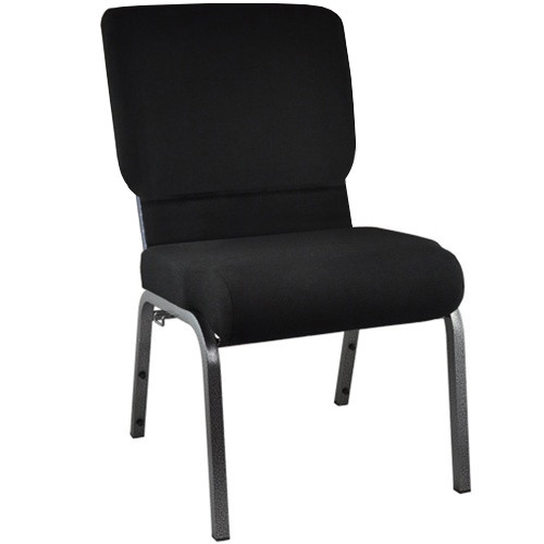 Flash Furniture | Advantage Black Church Chair with Book Rack 20.5 in. Wide