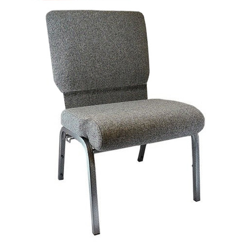 Flash Furniture | Advantage Charcoal Gray Church Chair with Book Rack 20.5 in. Wide