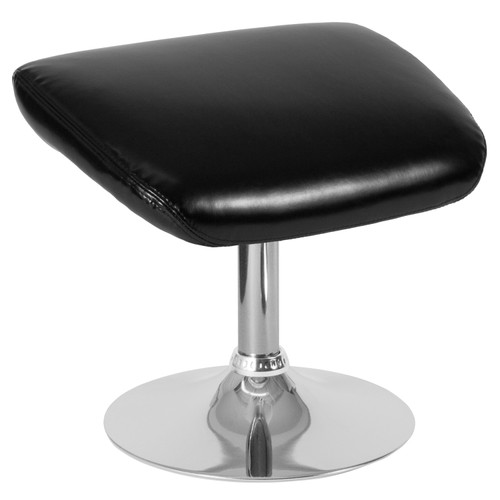 Flash Furniture | Egg Series Black LeatherSoft Ottoman