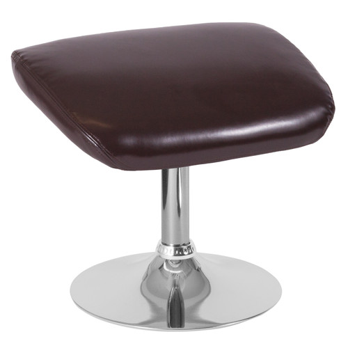Flash Furniture | Egg Series Brown LeatherSoft Ottoman
