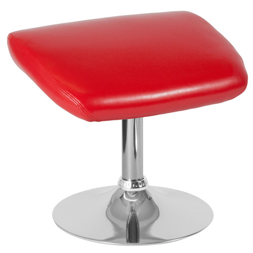 Flash Furniture | Egg Series Red LeatherSoft Ottoman