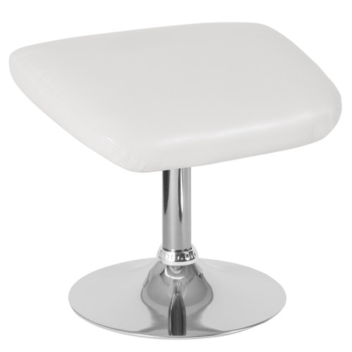 Flash Furniture | Egg Series White LeatherSoft Ottoman