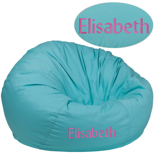 Flash Furniture | Personalized Oversized Solid Mint Green Bean Bag Chair for Kids and Adults