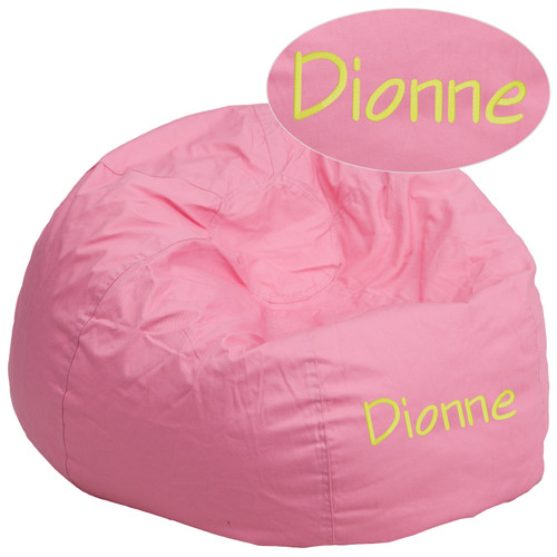 Flash Furniture | Personalized Oversized Solid Light Pink Bean Bag Chair for Kids and Adults