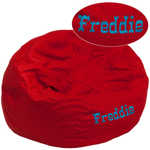 Flash Furniture | Personalized Oversized Solid Red Bean Bag Chair for Kids and Adults