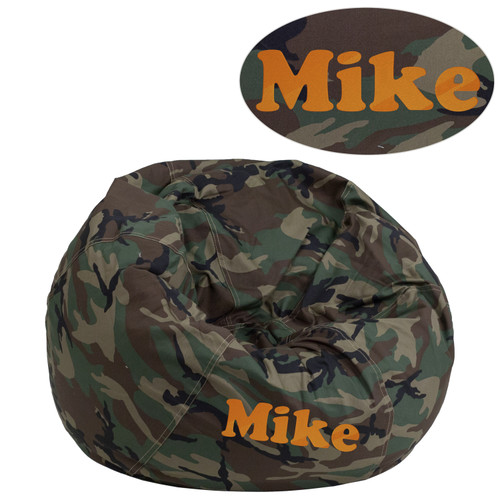 Flash Furniture | Personalized Small Camouflage Bean Bag Chair for Kids and Teens