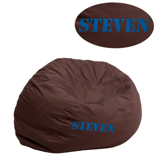 Flash Furniture | Personalized Small Solid Brown Bean Bag Chair for Kids and Teens