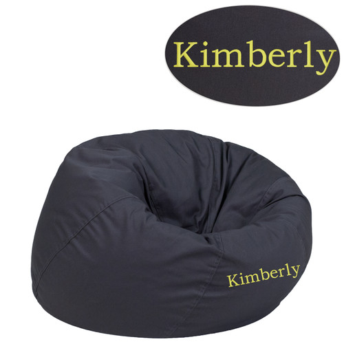 Flash Furniture | Personalized Small Solid Gray Bean Bag Chair for Kids and Teens