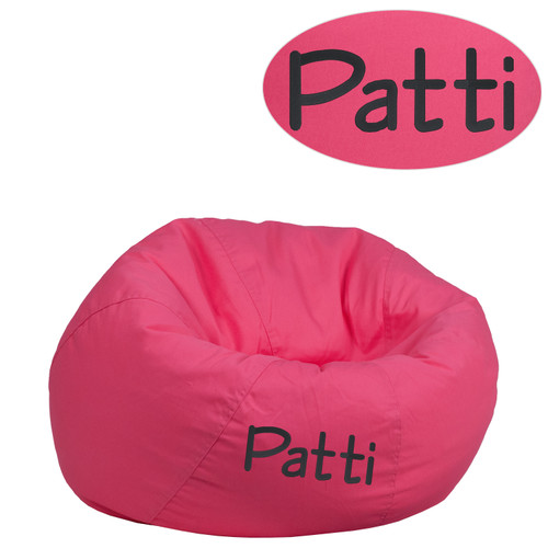 Flash Furniture | Personalized Small Solid Hot Pink Bean Bag Chair for Kids and Teens