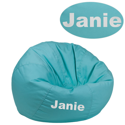 Flash Furniture | Personalized Small Solid Mint Green Bean Bag Chair for Kids and Teens