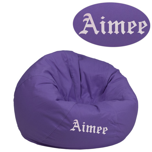 Flash Furniture | Personalized Small Solid Purple Bean Bag Chair for Kids and Teens