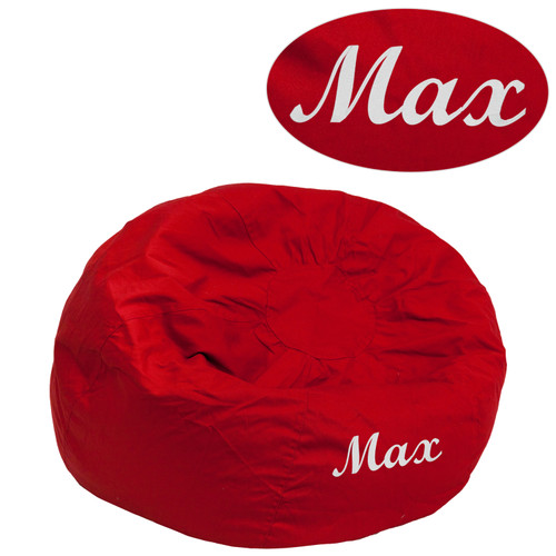Flash Furniture | Personalized Small Solid Red Bean Bag Chair for Kids and Teens