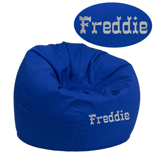Flash Furniture | Personalized Small Solid Royal Blue Bean Bag Chair for Kids and Teens