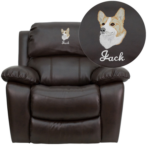 Flash Furniture | Personalized Brown LeatherSoft Rocker Recliner