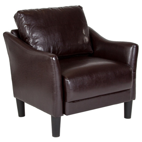 Flash Furniture   Asti Upholstered Chair in Brown LeatherSoft