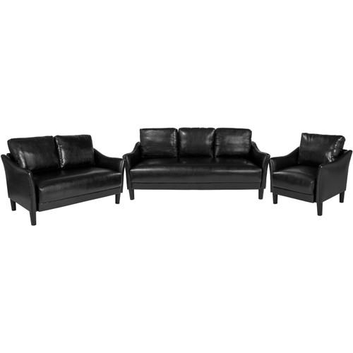 Flash Furniture | Asti 3 Piece Upholstered Set in Black LeatherSoft