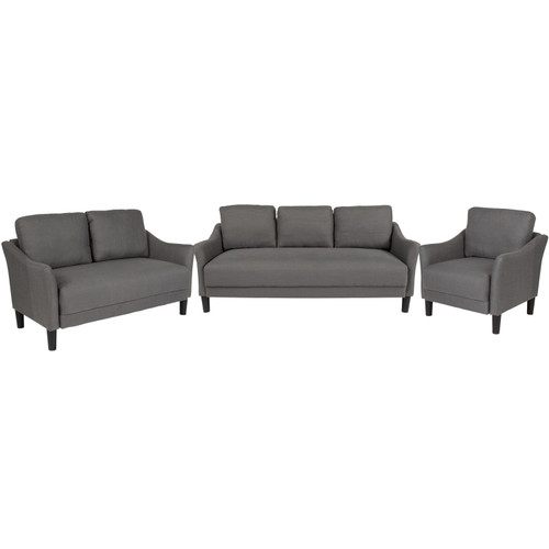 Flash Furniture | Asti 3 Piece Upholstered Set in Dark Gray Fabric