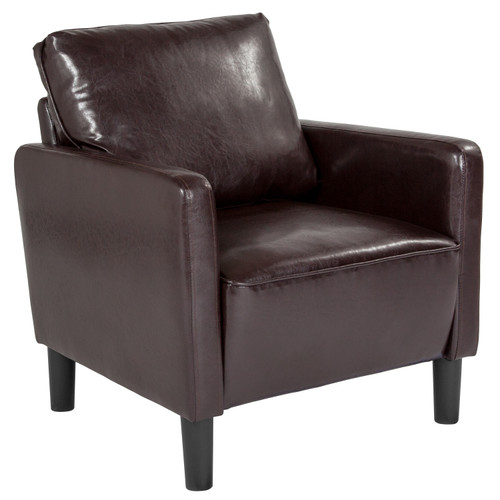 Flash Furniture | Washington Park Upholstered Chair in Brown LeatherSoft