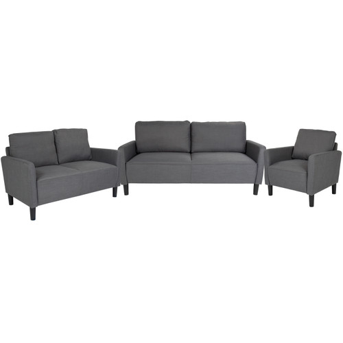 Flash Furniture | Washington Park 3 Piece Upholstered Set in Dark Gray Fabric