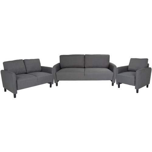 Flash Furniture | Candler Park 3 Piece Upholstered Set in Dark Gray Fabric