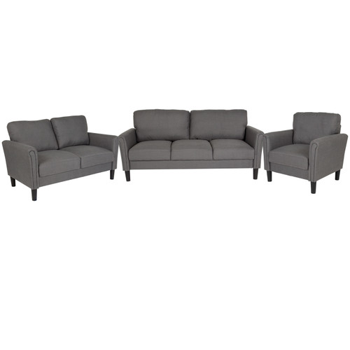 Flash Furniture | Bari 3 Piece Upholstered Set in Dark Gray Fabric