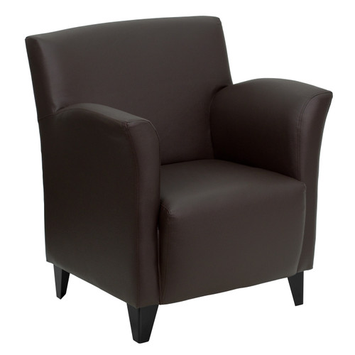 Flash Furniture | HERCULES Roman Series Brown LeatherSoft Lounge Chair