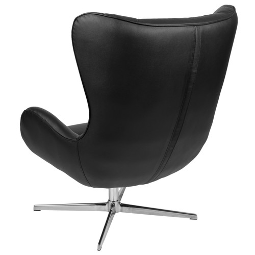 Flash Furniture | Black LeatherSoft Swivel Wing Chair