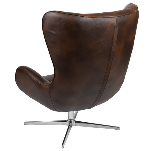 Flash Furniture | Bomber Jacket LeatherSoft Swivel Wing Chair