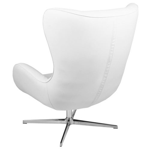 Flash Furniture | White LeatherSoft Swivel Wing Chair