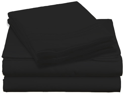 Design Center West Sheets That Breathe - Black