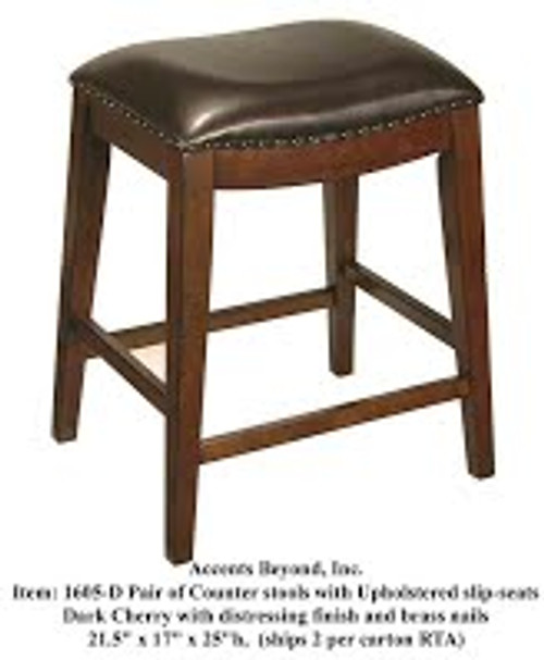 Accents Beyond   Pair of stools   1605-D