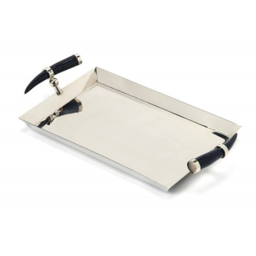 Butler Specialty Furniture | Vito Stainless Steel Rectangular Serving Tray | Bs3826016
