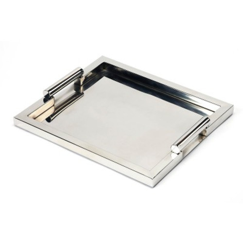 Butler Specialty Furniture | Morante Stainless Steel Rectangular Serving Tray | Bs3827016
